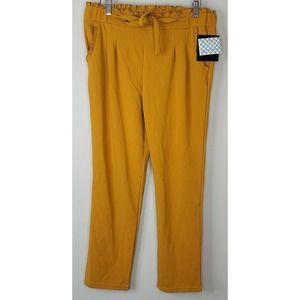 Soho Paperbag Pants Ruffled Mustard L